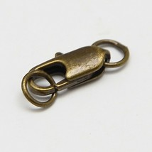 6pc brass made antique bronze finish lobster clasp with jump ring-7495Q - $1.50