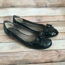 Franco Sarto Women Leather Flats Black Color Size 8.5 M - $14.60
