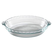 Pyrex Bakeware 9-1/2-Inch Scalloped Pie Plate, Clear Pack of 3 - $30.94