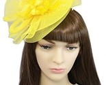 YSJOY Womens Flower Veil Mesh Bead Fascinators Bow Feather Church Derby Hat