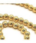 18K YELLOW GOLD CHAIN FINELY WORKED SPHERES 5 MM DIAMOND CUT, FACETED, 2... - $1,134.00