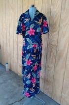 """Caribbean Joe """"Let Go"""" Maxi Wrap Dress XL Hawaiian dress Vintage - $24.74"""