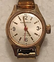 Vintage Caravelle (N9) Gold Tone Swiss Mechanical Movement Women's Watch... - $24.74