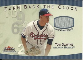 2001 Fleer Tradition Turn Back The Clock Tom Glavine TBC1 Braves - $6.00