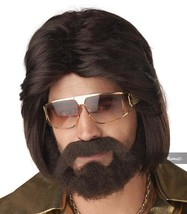 Californie Costumes Sexy 70's Man Perruque et Barbe Ensemble Halloween 7... - $24.50 CAD
