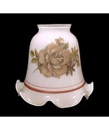 61378a white glass bell light shade brown roses ceiling fan chandelier wall sconce thumbtall