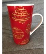 2015 STARBUCKS CHRISTMAS COLLECTION 16 OZ TALL COFFEE MUG ORNAMENTS RED ... - $14.84