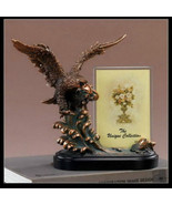 EAGLE & Picture Frame Bronze Sculpture Statue Desk Decorative Gift Resin - $44.00