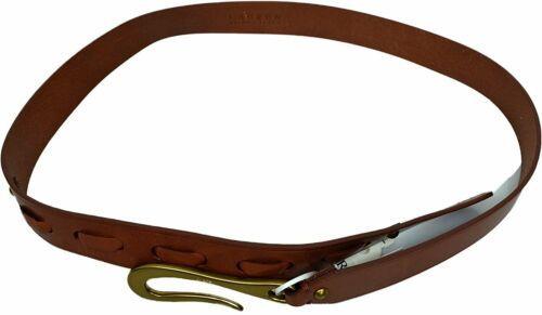 LAUREN Ralph Lauren – 1 3/8 Laced Jeans Belt with Hook Buckle Brown Small