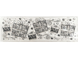 Presents Border Clear Stamp Set, Perfect for Cards!