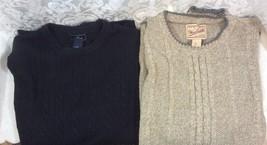 Dockers Black WOOLRICH Men's Brown and (2) Sweater Medium Crewneck Long ... - £12.40 GBP