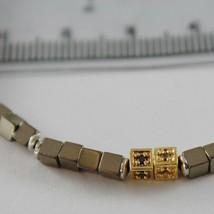 Armband Giadan aus 925 Silber mit Hämatit Glänzend und Diamanten Schwarze Made image 2