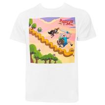 Adventure Time Running Characters Men's T-Shirt White - $26.98