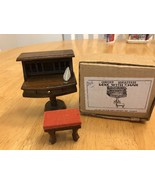 Concord Miniatures Dollhouse Desk and chair Vintage unused in original box - $15.83