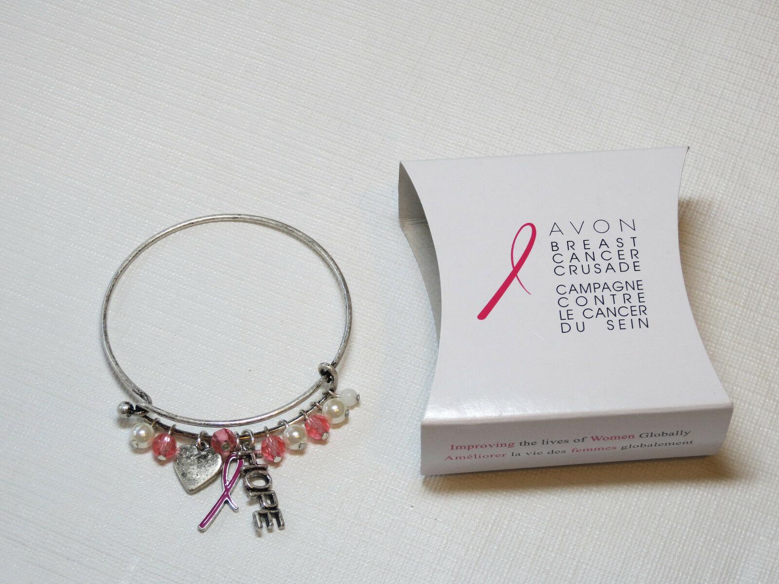 Femmes Avon Cancer Du Sein Crusade Breloque Bracelet F3983781 Nip