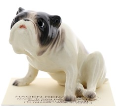 Hagen-Renaker Miniature Ceramic Dog Figurine Bulldog Pedigree Sitting