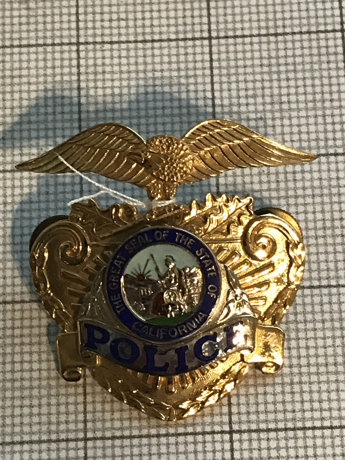 Primary image for California Police Hat Badge Obsolete