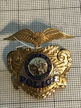 California Police Hat Badge Obsolete - $180.00