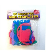 35 Assorted Plastic Reusable Scrapbooking Mini Templates by Pioneer Phot... - $11.50