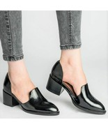 Women's Leather Pumps New Fashion Spring Summer Shoes Pointed Toe Pump S... - $19.34+