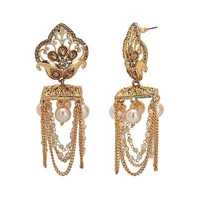 Indian Gold Plated Bollywood Bridal Traditional Fashion Jewelry Earrings