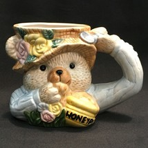 Fitz & Floyd Honey Bear Pot Coffee Mug Cup 1995 Easter Spring 14oz. - $484,57 MXN