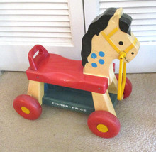 VINTAGE 1976 FISHER PRICE PONY/HORSE WHINNY RIDE ON #978 - $14.11