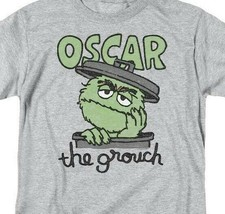 PBS Sesame Street Oscar the grouch Retro 60's 70's graphic gray t-shirt SST118 image 2