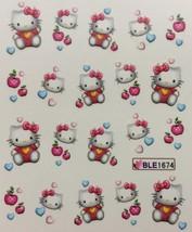 Bang Store Nail Art Water Decals Hello Kitty Hearts Apples Funny Cute - $3.67