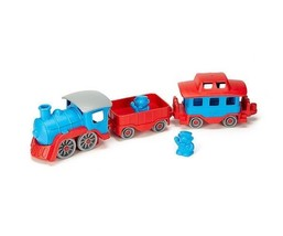 GREEN TOYS Train (Red/Blue), MADE IN USA, Age: 2YR+, TRNB-1054