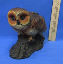 Vintage Wax Brown Owl Candle Figurine Unused Large Eyes Retro 1970s 5 1/... - $10.88