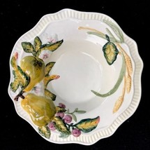 "Bella Casa By Ganz Embossed Raised Fruit Rimmed Soup Bowl Ceramic 8-7/8"" - £16.08 GBP"