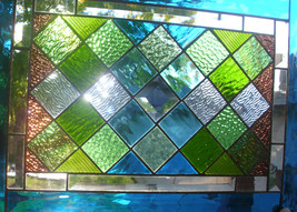Stained Glass Window Diamond Quilt Panel - $229.00
