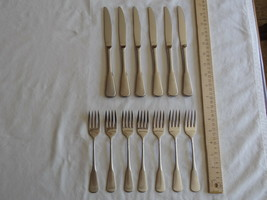 13x Oneida S. S. S.Minute Man-Boston Colonial USA Salad Fork Dinner Knife - $22.02