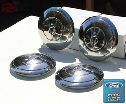 1935 Ford 4 Cylinder Car Pickup Truck Stainless Hub Caps Ford Script Set... - $95.39