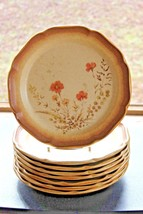 "Mikasa Whole Wheat Jardiniere Dessert Bread Salad Plate E8016 8"" Set of 8 Plates - $72.67"