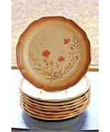 "Mikasa Whole Wheat Jardiniere Dessert Bread Salad Plate E8016 8"" Set of ... - $72.67"