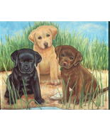 Large Retriever Puppies Garden All Weather Gard... - $17.99