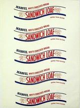 Vintage bread wrapper MARVEL SANDWICH LOAF Jane Parker Bakers new old st... - $9.99