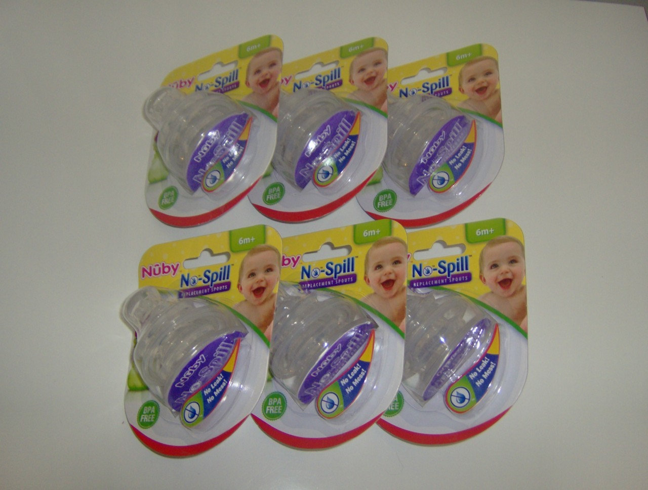 Primary image for 12 NUBY SUPER SPOUTS Replacement Spouts 10 oz Cups NEW!