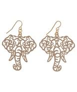 Filigree Elephant Head Fishhook Earrings - $11.99