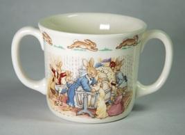 Royal Doulton Bunnykins Celebrate Christening 2-Handled Hug A Mug - $6.00