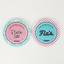 2 Disney Fried Chicken Celebration Pins Buttons Plaza Inn Flo's Disneyla... - $31.95