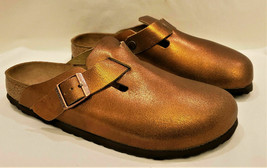 Birkenstock Sandals Made in Germany Size-L10/M8 Metallic Antique Leather  - $79.97