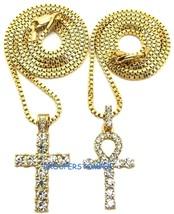 Kreuz Und Ankh Halskette Ägyptische Mit 24 Und 76.2cm Kiste Link Schneek... - $13.93+
