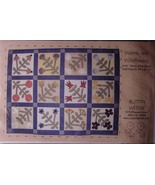 """Pattern """"Weeds and Wildflowers""""  Applique Quilt 55.75"""" x 42.5"""" - $6.99"""