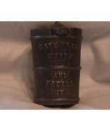 Ice Cream Maker Antique Cast Iron semi Mechanical Bank Gray Iron Co - $199.95