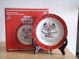 Disney Our Family Tree 4pc. Dessert Plate Set - $40.00