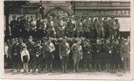German Gestapo Brown Shirts World War 2 vintage Real Photo Post Card   - $250.00