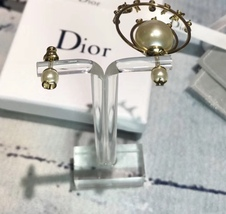 """Authentic Christian Dior """"DIOR TRIBALES"""" Earrings Gold Crystal Star Wasp Charms  image 9"""